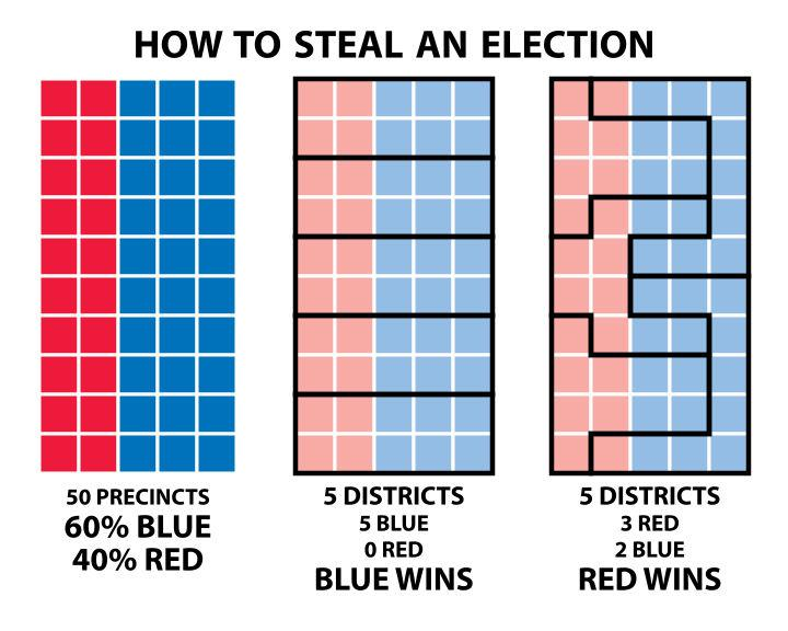 Gerrymandering illustration (Stephen Nass)