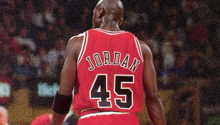 when michael jordan wore 45