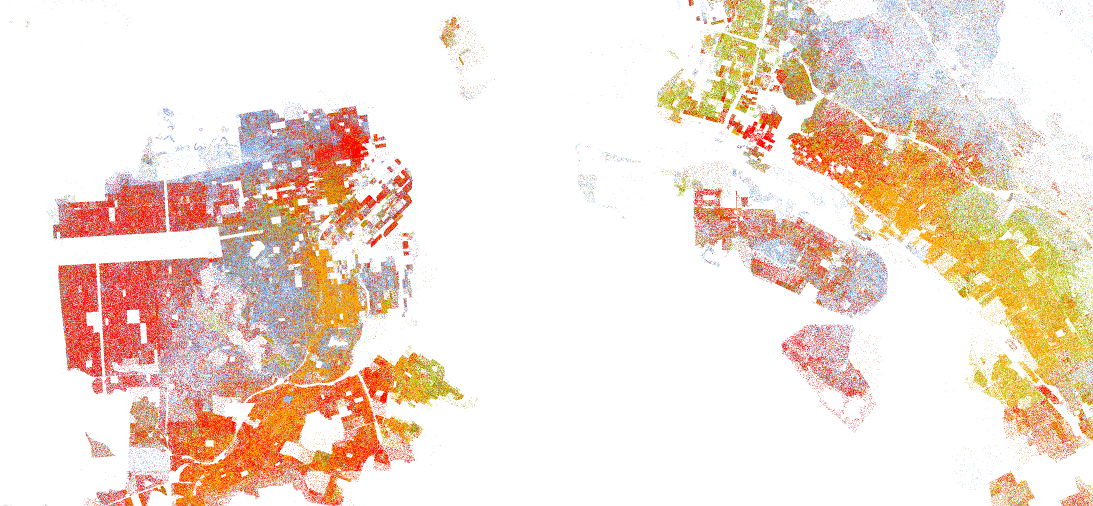 How Diverse Is Your City - Race maps of us cities