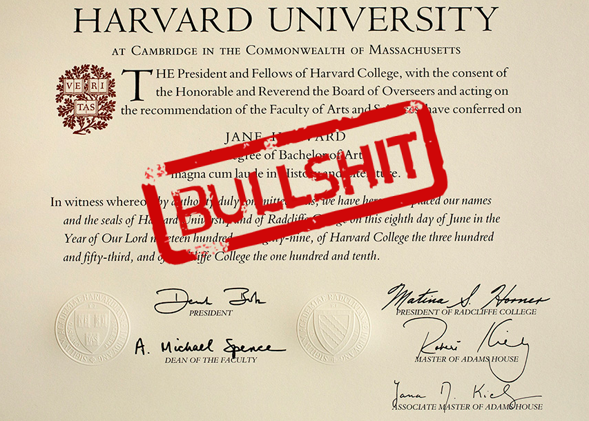 The Business of Fake Diplomas