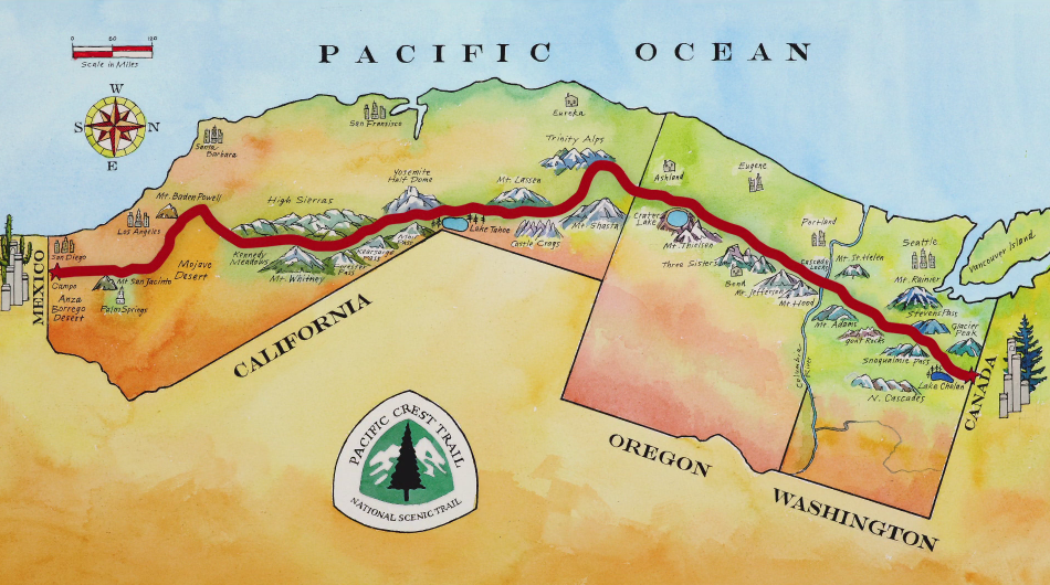 Hiking the 2650Mile Pacific Crest Trail