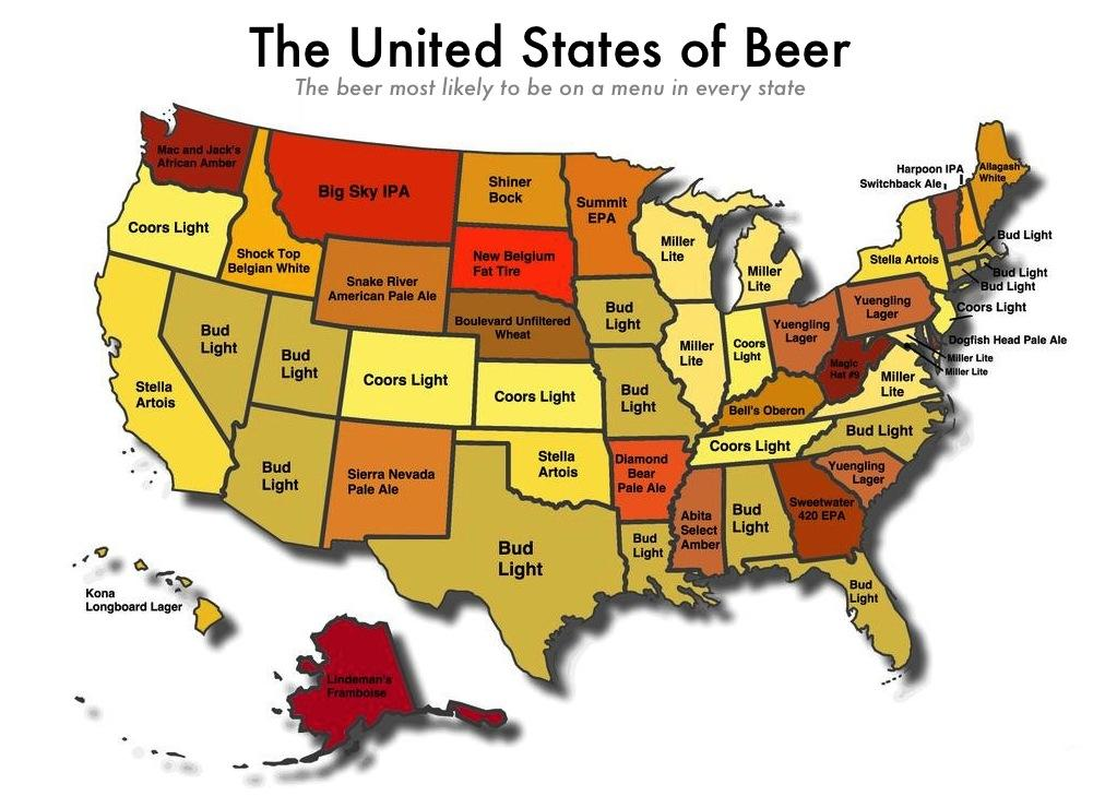 Craft Map United States