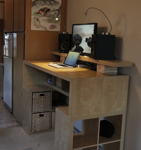 Hack a standing desk from ikea for Ikea stand up pupitres
