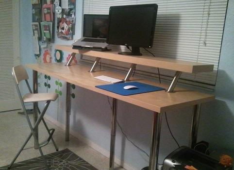 Simple Desk Ikea Hack Image Credit Martina Hackers To Design Decorating